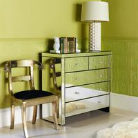 Large Mirrored Chest of Five Drawers