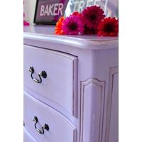 French Chest of Drawers in Lilac