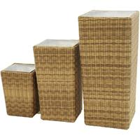 Anais 3 Planter Set in Rattan Weave
