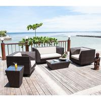 Ocean Maldives Outdoor Coffee Table Geometric Rattan Design