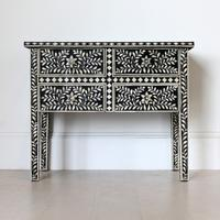 Bone Inlay Four Drawer Console