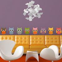 Owl Parade Wall Sticker Set