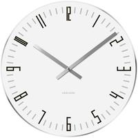 Karlsson Slim Index Clock - White [D] by Red Candy