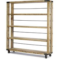 Industrial Wheeled Bookcase