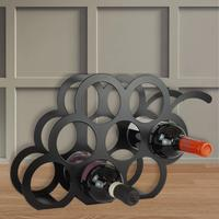 Grape Design Metal Wine Rack - Black