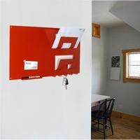 3 In 1 Magnetic Memo Board, Letter Rack And Key Holder - Red by The Metal House