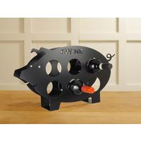 Swine Metal Wine Rack - Black