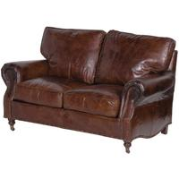 Crumpled Leather Two Seater Sofa