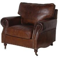 Crumpled Leather Armchair