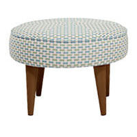 Lulu Footstool, Honeycomb Weave Cotton Mix