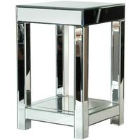 Venetian Bedside Table in Mirrored Glass