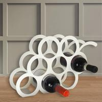 Grape Design Metal Wine Rack - Ivory