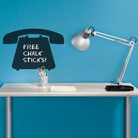 Telephone Chalkboard Wall Sticker by Red Candy