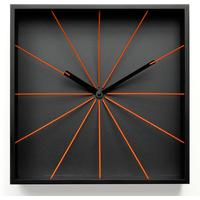 Perspective Wall Clock - Black by Red Candy