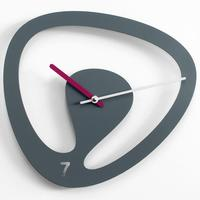 Seven Wall Clock - Grey by Red Candy