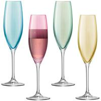LSA Polka Champagne Glasses - Pastels - Set of 4 by Red Candy
