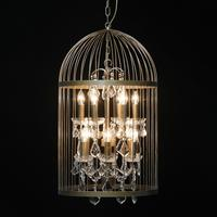 Large Birdcage Chandelier Antique Finish