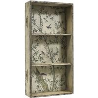 Pale Green Wallpaper Drawer Cabinet