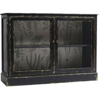 Distressed Black Low Cabinet