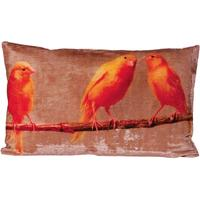 Large Budgie Print Cushion Cover