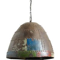 Large Rusty Hanging Lamp