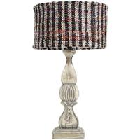 Beautifully Carved Wood Table Lamp