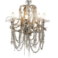 Extravagant Five Arm Beaded Chandelier