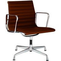 Eames Low Back Ribbed Meeting Chair with Arms