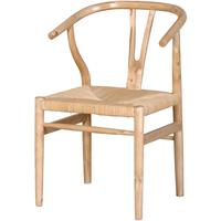 Wide Oak Dining Chair Antique Wood