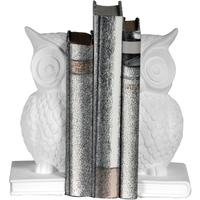 Owl Bookends White