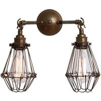 Rigo double cage wall light by Mullan Lighting