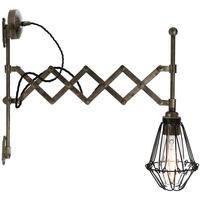 Lonn adjustable scissor cage wall light by Mullan Lighting