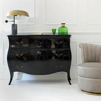 Curvy Large French Chest of Drawers by Out There Interiors