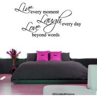 Live Laugh Love Wall Sticker - Large