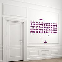 Space Invaders Wall Sticker Set - Large