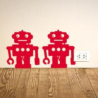Robots Wall Sticker - Set of 12