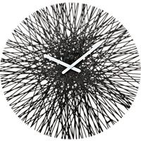 Koziol Silk Wall Clock - Black by Red Candy