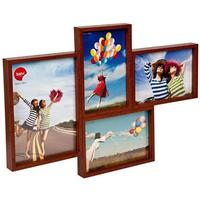 Grid 4 Multi Photo Frame Dark Walnut
