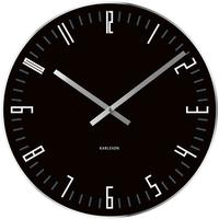 Karlsson Slim Index Clock - Black by Red Candy