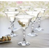 6 Vintage Martini Cocktail Glasses