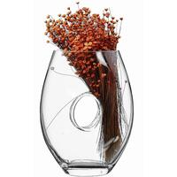 Bianco Glass Vase with Crafted Hole 30cm