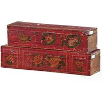 Mongolian Painted Box by Shimu