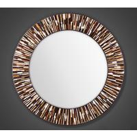 Roulette PIAGGI light brown glass mosaic round mirror by Piaggi