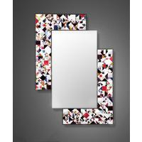 Kaleidoscope multicolour PIAGGI glass mosaic mirror