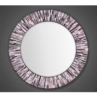 Roulette PIAGGI pink glass mosaic round mirror