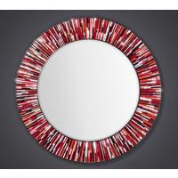 Roulette PIAGGI red glass mosaic round mirror