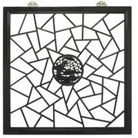 Carved Panel, Black Lacquer
