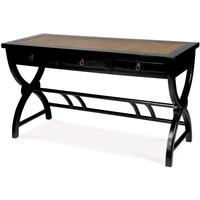 Cross Legged Desk, Black Lacquer by Shimu