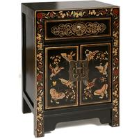 Small Butterfly Cabinet, Black Lacquer