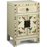 Small Butterfly Cabinet, Cream Lacquer by Shimu